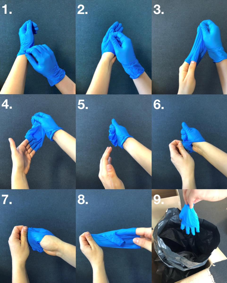 Removing and Disposing of Gloves