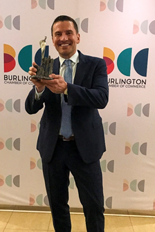 A.S.P. Dean Lovric Photo - Wins Business Excellence Burlington Chamber of Commerce